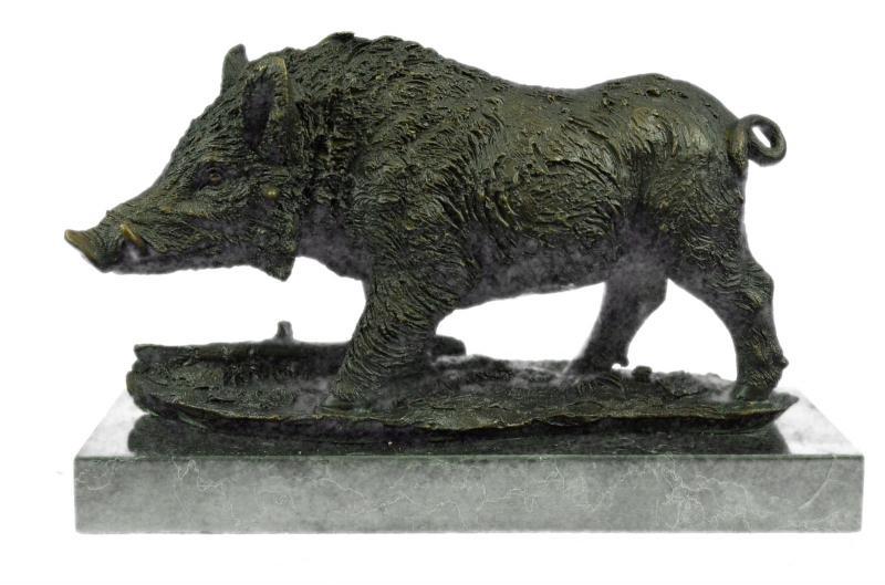 Boar Wild Pig Bronze Sculpture Statue by Barye Figure Farm Animal Lost