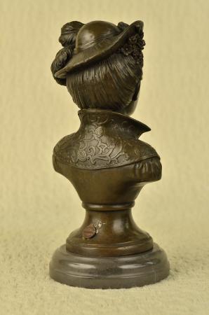 bronze portrait bildnisb ste frau sehr h bsch klassisch statue figur ebay. Black Bedroom Furniture Sets. Home Design Ideas