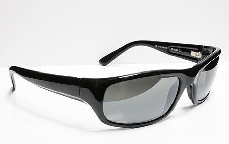 Auth Maui Jim Sunglasses Stingray Gloss Black Frame Grey Lens 103 02