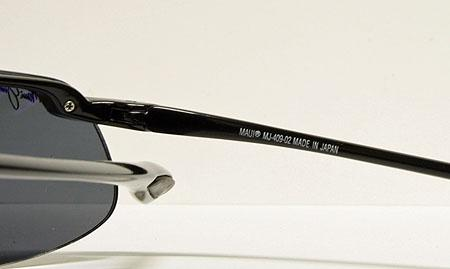 Maui Jim Kanaha Gloss Black Neutral Grey MJ 409 02 Polarized