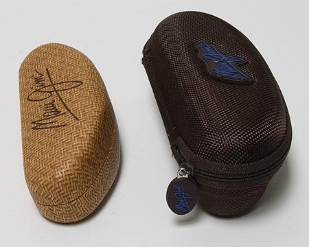 Auth Maui Jim Logo Sunglasses Eyeglass Hard Leather Case and Sport