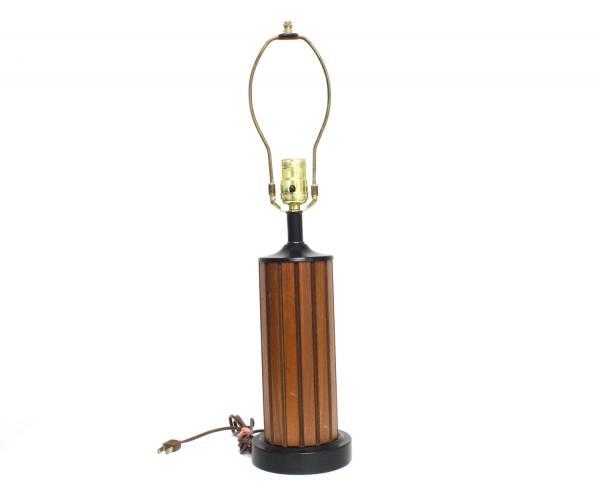 vintage danish mid century modern teak hans wegner table lamp black working wood ebay. Black Bedroom Furniture Sets. Home Design Ideas