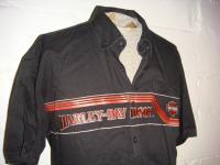 Harley Davidson Motorcycles Short Sleeve Button Front Garage Biker