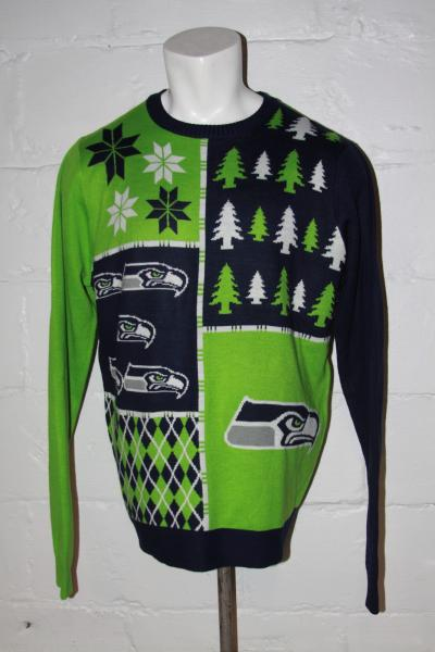 timeless design 32daf b0455 NWOT Seattle Seahawks Ugly Christmas Sweater Sz XL NICE WOW ...