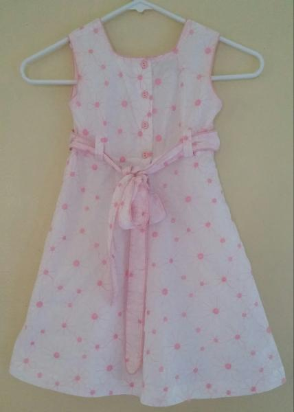 29f12a9da5a STRASBURG Pink Embroidered DAISY Dress Fully Lined GIRLS 5 6