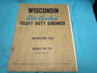 Wisconsin Air Cooled Engine Instruction Book Manual Models VE4 VF4 ISSUE MM 217
