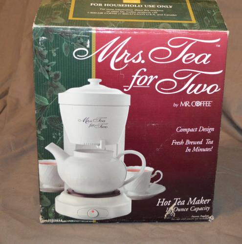 Old Mr Coffee Maker : MRS. TEA For Two ELECTRIC TEA MAKER BY MR COFFEE HTM11 New Old Stock RARE (62) eBay