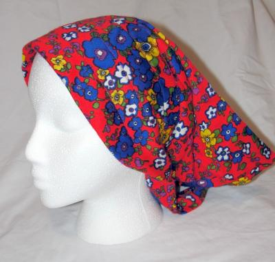 Jander on True Vintage 60s 70s Bright Floral Kerchief Head Scarf Hat Bandana