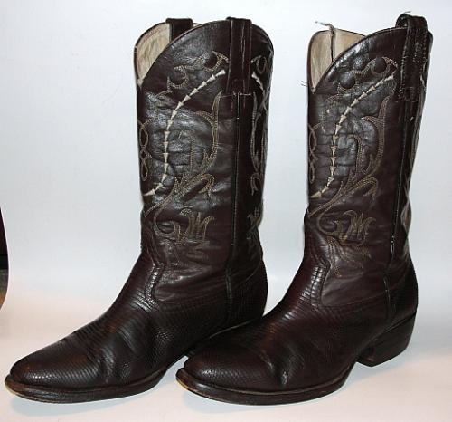 s 9 5 d cowboy boots brown snake leather country