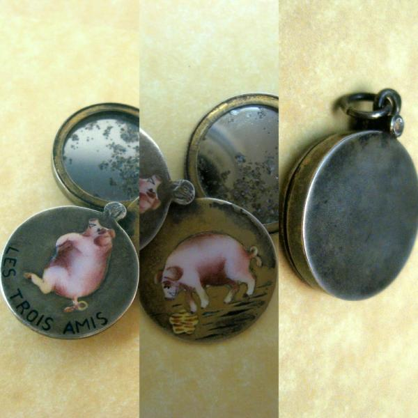 Pig Charm Bracelet: Antique Austrian German Lucky Pig Charms Choose From 18