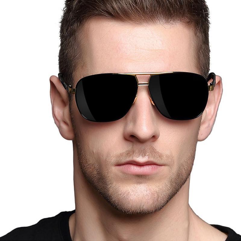 herren hd sonnenbrille polarisiert pilot aluminium brillen. Black Bedroom Furniture Sets. Home Design Ideas