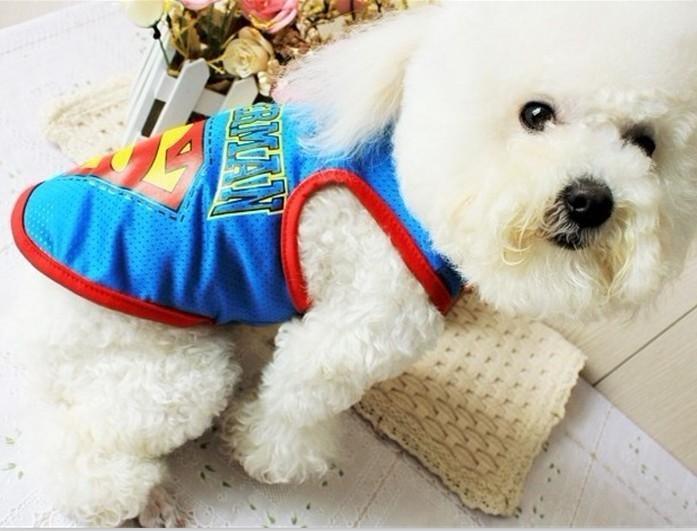 Cute Pet Dog Clothes Superman T Shirt 3 Colors  Size S,M