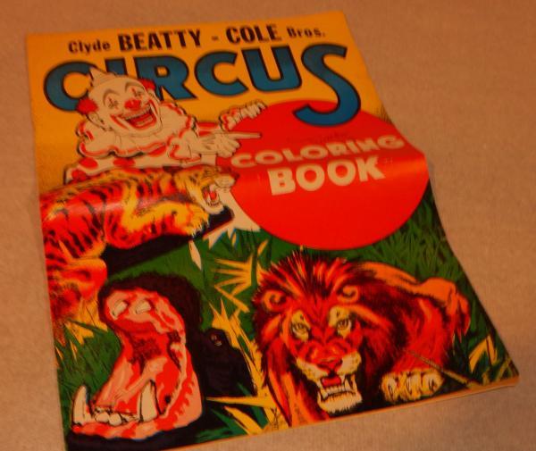 - Clyde Beatty-Cole Bros. Circus Coloring Book Enquirer Printing Co.  Cincinnati EBay