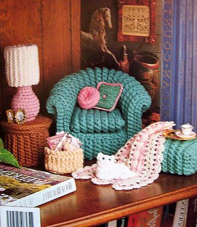 Crochet classic living room fashion doll decor patterns - Crochet mural vintage ...