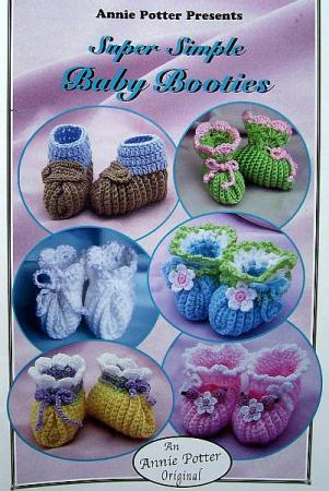 Crochet Super Simple Baby Booties Annie Potter Original Patterns Ebay