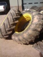 Used 18 4x34 John Deere 4020 Tractor Tires on Rims