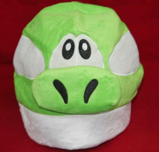 Super Mario Bros YOSHI Plush Hat Cap Green Cosplay TOY