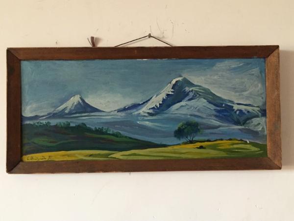 1991 Biblical Mt  ARARAT (Armenia) PAINTING- Russian