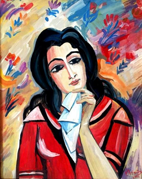 Woman Art Painting Russian Armenian Listed Artist Alexander Grigoryan Grigorian Ebay
