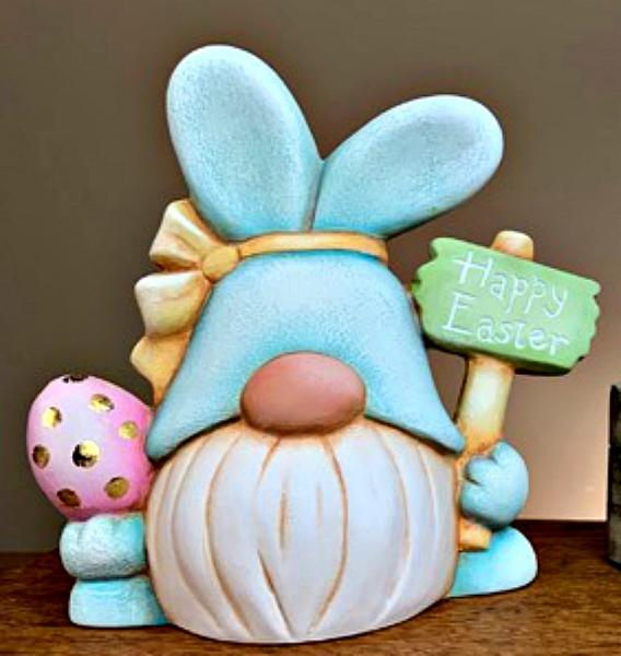 Easter Bunny With Egg Cart Box Ready to Paint Unpainted Ceramic Bisque