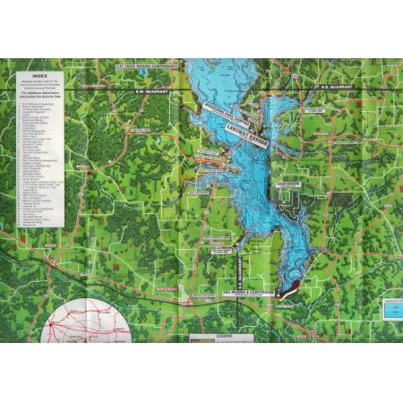 Lake palestine tyler jacksonville contoured depth topo map for Lake palestine fishing
