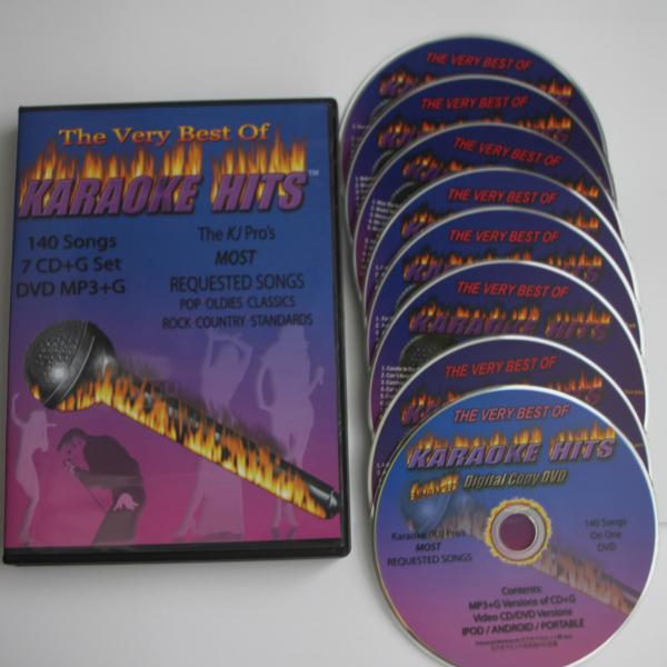 KARAOKE HITS CD+G THE BEST 50'S-80'S ON 7 DISC NEW IN CASE