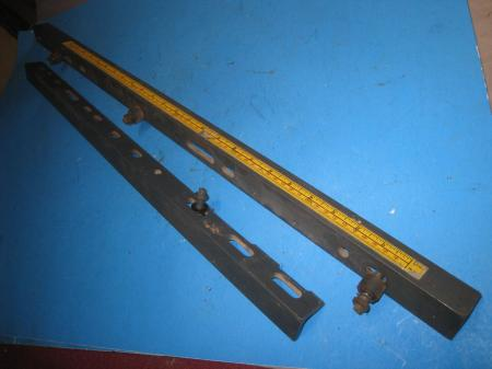 Craftsman 113 10 table saw rip fence 2 rails vintage 80 39 s for Craftsman picture rail
