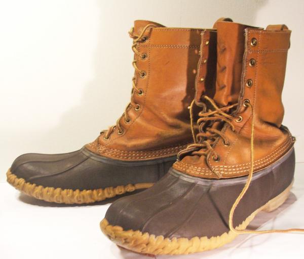 ll bean maine shoes vtg mens boots sz 12 green