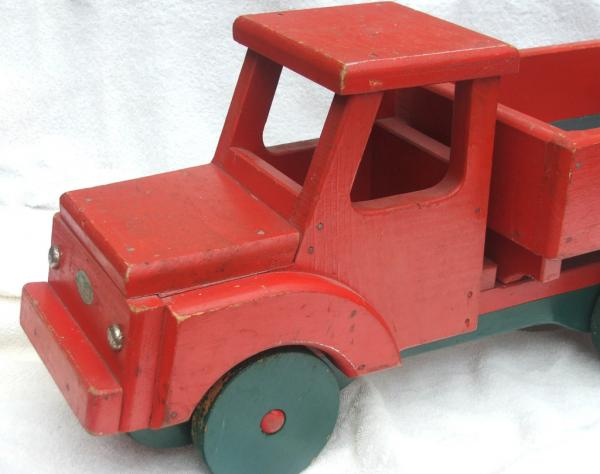 Big Dump Trucks >> Big Red Dump Truck 1953 Antique Hand Crafted Wood Grandads ...