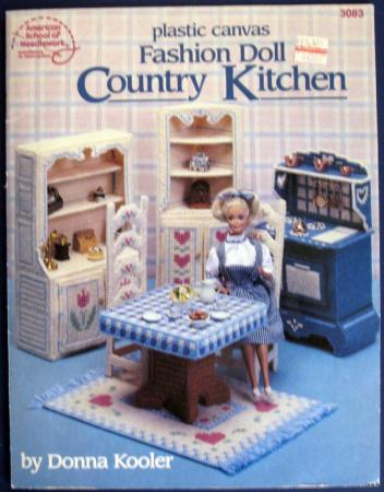 Plastic Canvas Fashion Doll Country Kitchen Pattern Book Vtns Barbie Furniture Ebay