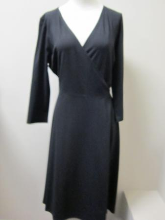 black wrap dress 3 4 sleeve on Eileen Fisher Black Rayon Stretch 3 4 Sleeve Wrap Dress  218   Ebay