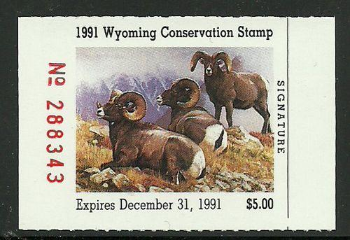 Wyoming 1991 Duck Conservation Stamp Big Horn Sheep MNH