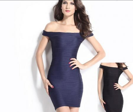 Dance Club New Sexy Dress Shirt Collar Tight Strapless Dress ...