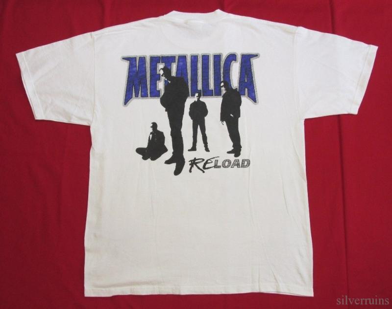 Metallica vintage t shirt 90 39 s tour concert 1998 reload for Optima cotton wear t shirts