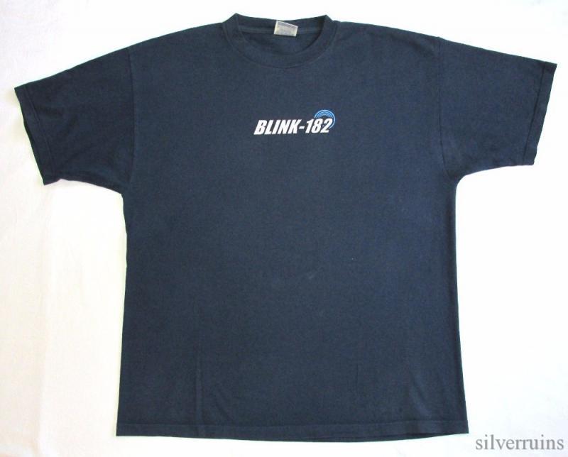 Blink 182 vintage t shirt 90 39 s tour concert alt pop punk for Optima cotton wear t shirts