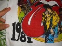 ROLLING STONES Vintage Concert SHIRT 80s TOUR T Raglan JERSEY 1981