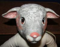 Vintage Duncan Ceramic Lamb Doll 15 Inches Tall