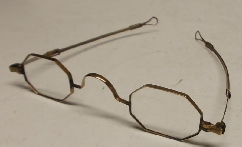 10k Gold Eyeglass Frames : antique 10k GOLD FRAME eyeglasses SLIDING ARMS ben ...