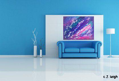 CORAL REEF ORIGINAL ABSTRACT MODERN ART PAINTING JLEIGH
