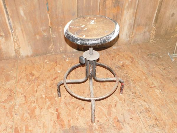 Vintage Industrial Metal Stool Drafting Table Old