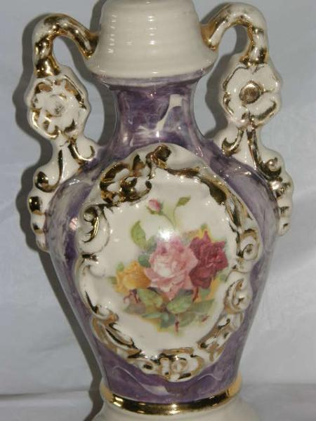 Old Antique Hand Painted Porcelain Table Lamp Limoges