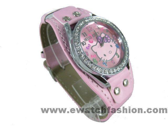 New helloKitty Rose crystal Quartz wrist watch 623p
