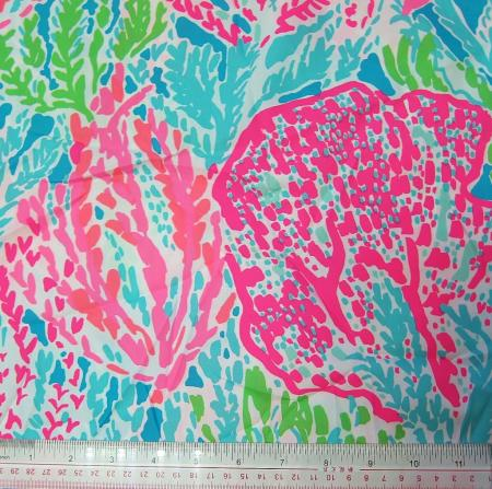 Lilly Pulitzer Fabric 2013 Summer Turquoise Lets Cha Cha 1