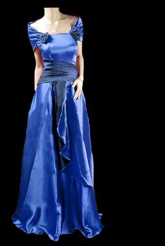 Full length Satin Prom Dress yd066 purple Plus Size