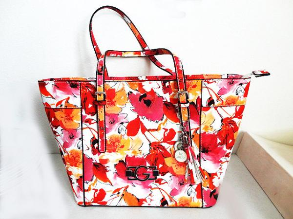 Red Poppy Flowers Canvas Tote Zippered Top
