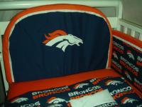 Baby nursery crib bedding set w denver broncos fabric ebay for Denver broncos bedroom ideas