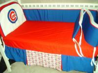 Baby Nursery Crib Bedding Set W Chicago Cubs Fabric New