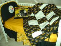 Custom Baby Nursery Crib Bedding Set Made W Pittsburgh