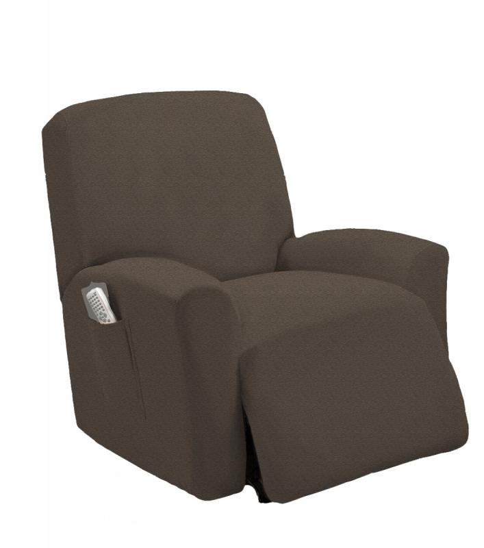 STRETCH FIT MOCHA RECLINER SLIPCOVER CHAIR SLIP COVER