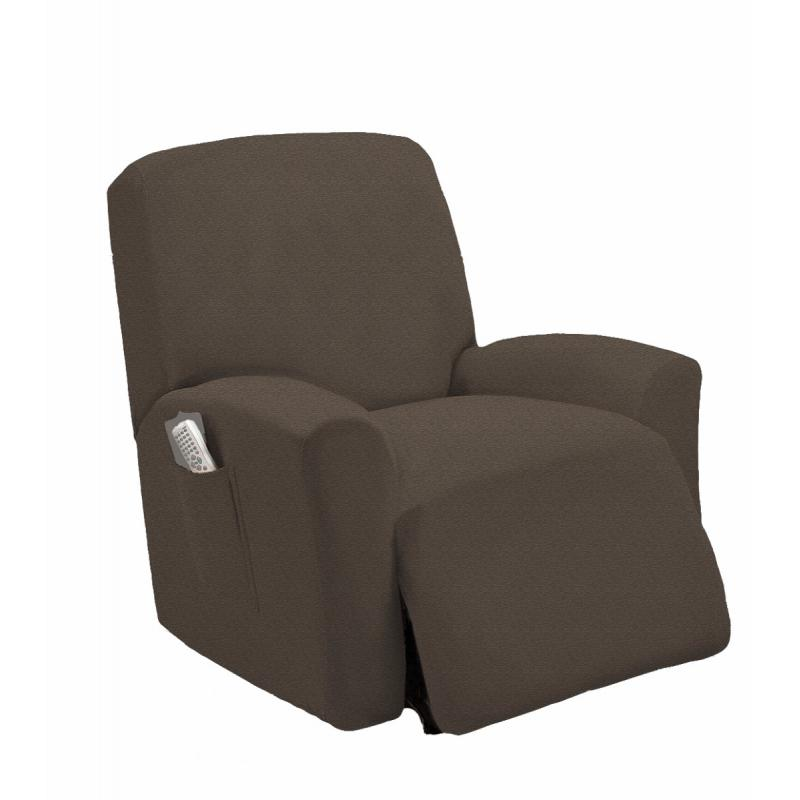 New Slipcover Stretch Sofa Cover Sofa With Loveseat Chair: STRETCH-FIT MOCHA RECLINER SLIPCOVER CHAIR SLIP COVER